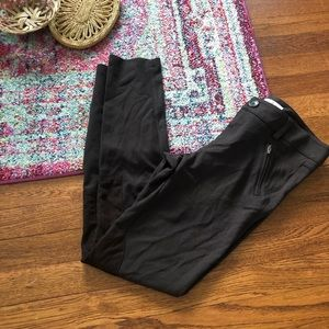 Cabi #941 brown pointe suede patch leggings